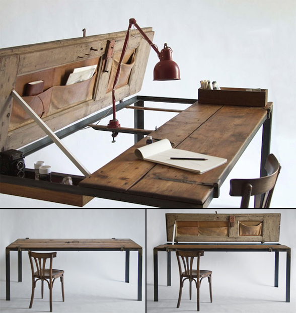 cool office tables designs | Cool Thing We Want #310: Lovely Converted Antique Door To ...
