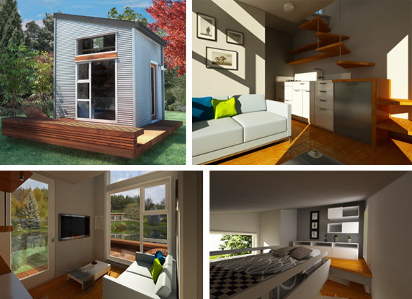 were digging the tiny house concept of nomad a 10 x 10 micro house with a 60 loft space developed right here in vancouver its easy to assemble and