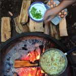 Camp-breakfast,-Redwoods-CA.