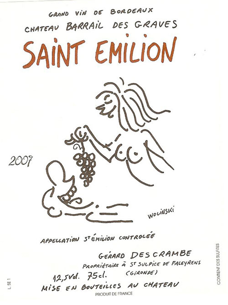 DRINKER   French Wine Labels By Murdered Charlie Hebdo Cartoonists Defied Convention