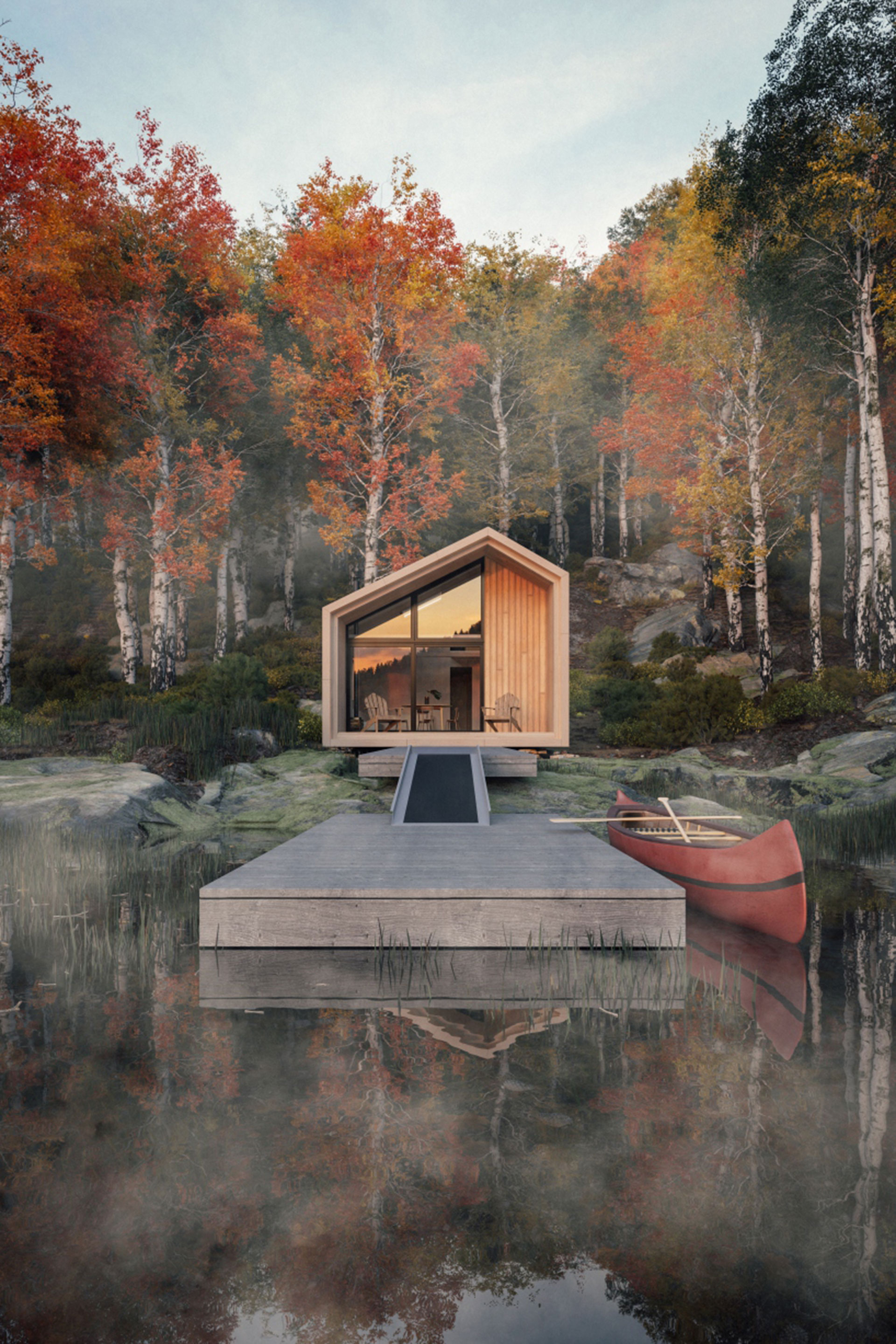 We Want to Take Shelter in This Locally Designed 'Great Lakes Cabin'