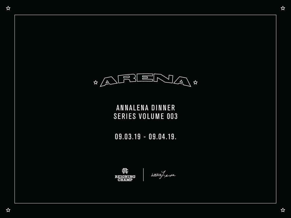 Tickets Now Available for AnnaLena Dinner Series Vol.#003, 'ARENA'