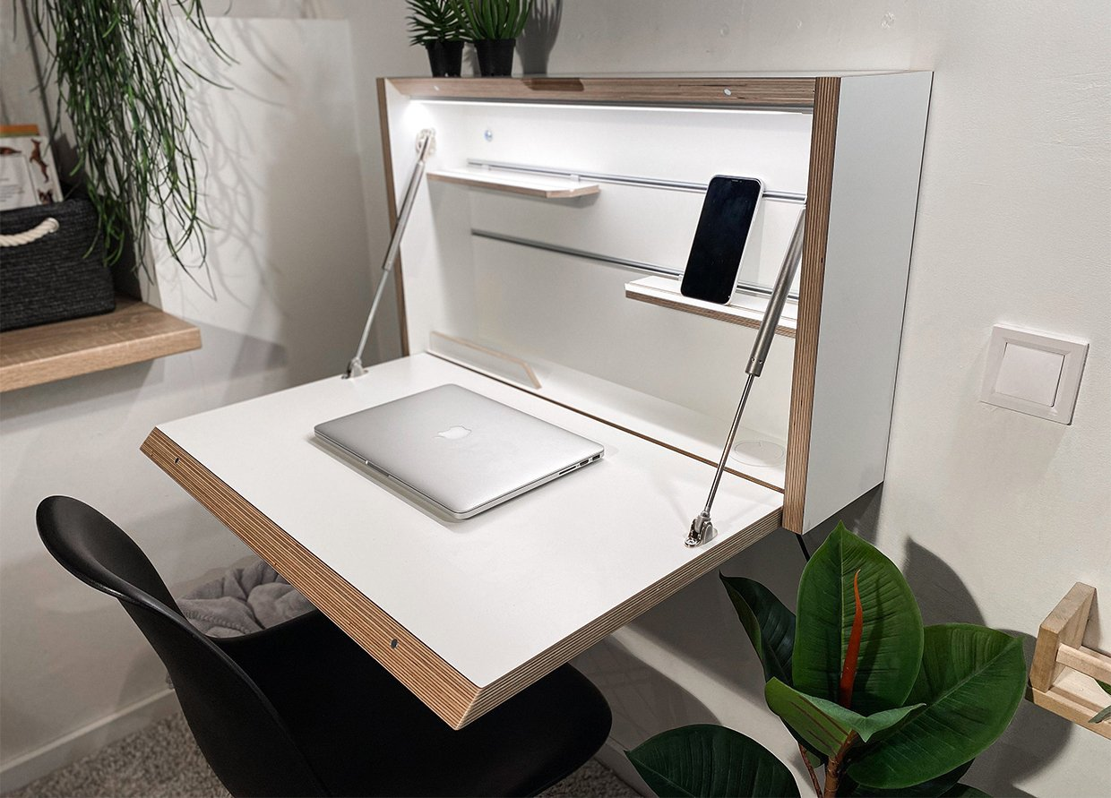 We Want This Wall-Mounted Folding Desk - Scout Magazine